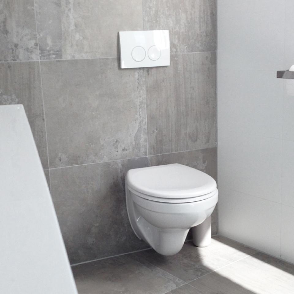 Lopend project archieven badkamer plus de plus voor uw badkamer en toilet - Deco toilet grijs en wit ...
